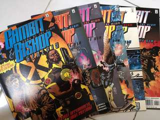 MARVEL COMICS GAMBIT & BISHOP SONS OF THE ATOM GENESIS, #1 - 3, 5 & 6