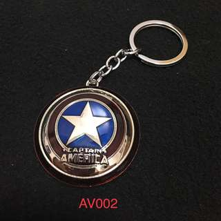 Captain America Metal Keychain
