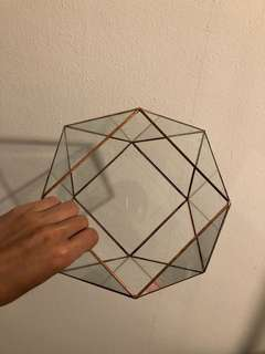 Geometric glass jar