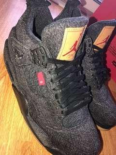 Levi's x Jordan 4s black denim (size 8 in men's)