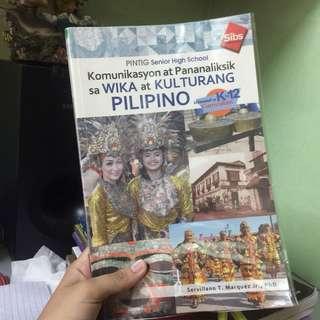 SHS Komunikasyon at Pananaliksik sa Wika at Kulturang Pilipino