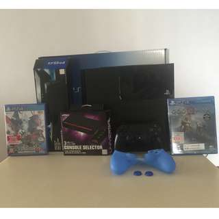 Playstation 4 1TB Console + Accessories + Games