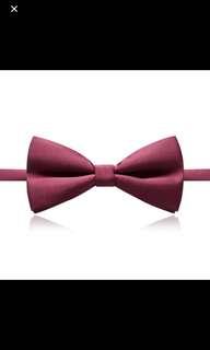 Maroon bow ties