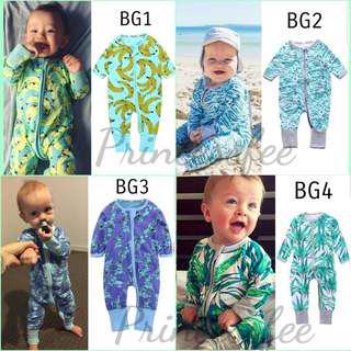 📮 Free Mail • (0-18M) Baby Newborn Bonds inspired Wondersuit Zip Up Zipper Zipped up Sleepsuit Footed Integrated mittens cotton-On Zip sleepsuits longsleeve Jumpsuit