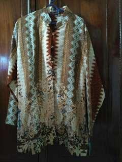 Blouse Batik Halus Kerah Shanghai