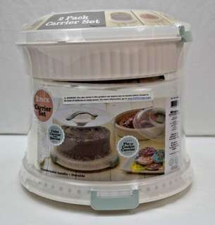 Bradshaw Sweet Creations 2 pack Cake and Pie Carrier Set