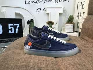 "Nike Wmns Blazer Low SE LX開拓者""Off-White""帆布板鞋"