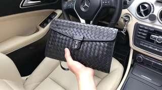 Bottega veneta men's leather clutch black