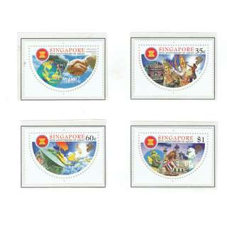 1997 02  Mint Stamps   30th Anniversary of ASEAN