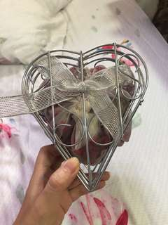 Heart shaped container display
