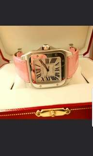 Cartier Santos 100 33mm (99% new)  2878 pink