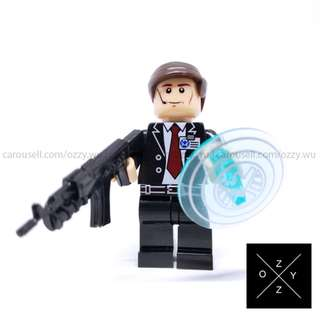 Lego Compatible Marvel Superheroes Minifigures : Agent Coulson