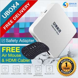 GSS PROMO Free Airmouse! NEW Version UNBLOCK Tech TV BOX UPRO I900 (GLOBAL Version)Fr