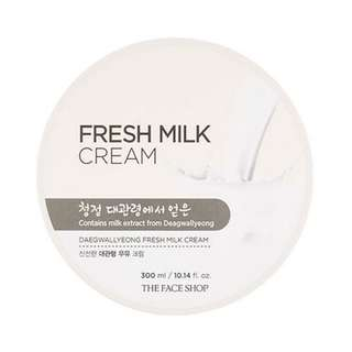 THE FACE SHOP FRESH MILK CREAM BODY LOTION