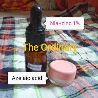The ordinary nia+zinc azelaic acid set