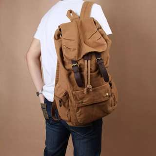 Vintage Women and Men Casual Canvass Backpack