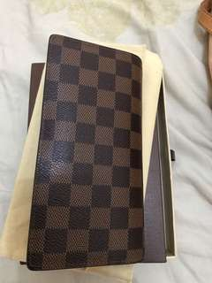 Authentic lv brothers unisex wallet with box and dustcloth