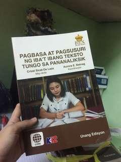 SHS Pagbabasa at Pagsusuri ng Iba't Ibang Teksto Tungo sa Pananaliksik