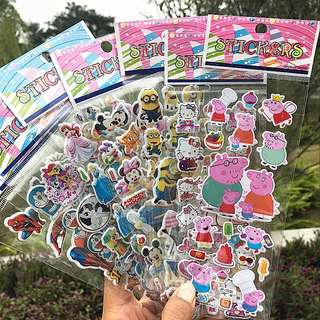 3D Puffy Pop Up Sticker- Goodie Bag / Goody Bag / Children Gift