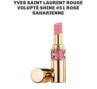 🚚 YSL Rouge Volupté Shine 51 Rose Saharienne