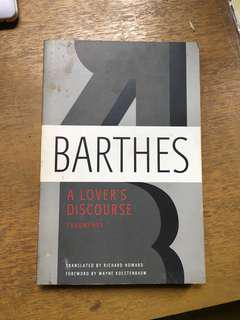 Barthes: A Lover's Discourse (Paperback)