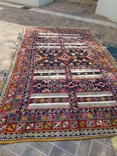 Moroccan Berber Carpet Wool - Gorgeous! Large