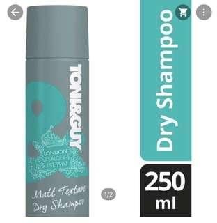 🚚 *NEW* TONI&GUY Matt Texture Dry Shampoo 250ml