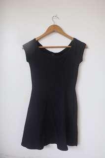 F21 black off shoulder dress