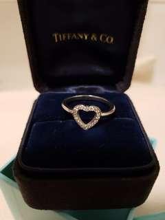 Tiffany Pt900 鑽石介指