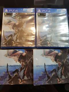 PS4 Monster Hunter Worlds + Exclusive Controller Stickers