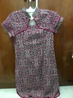 Preloved baju dress batik