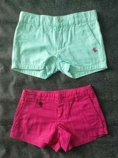 Kids Short Pants Poney (turquoise) and Ralph Lauren (hot pink) 4-5yo