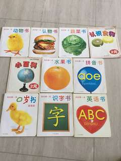 Set of 10 Chinese picture books - for baby and toddlers
