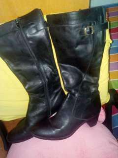 Giordano ladies long leather boots