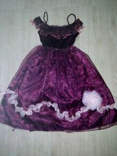 Violet girl costume 3-5 yrs old