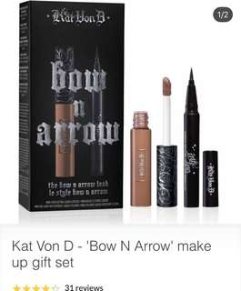 """Kat Von D 'Bow N Arrow"""" Set"""
