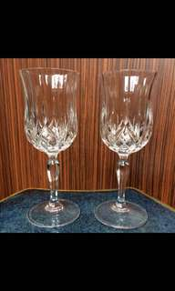 Red Wine Glasses Dining Crystal RCR