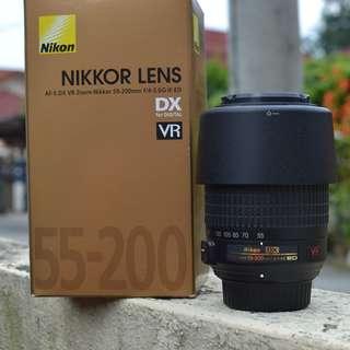 Nikon AF-S DX Nikkor 55-200mm F4-5.6G ED VR ll Lens