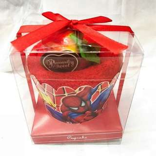 SPIDER MAN CUPCAKE TOWEL