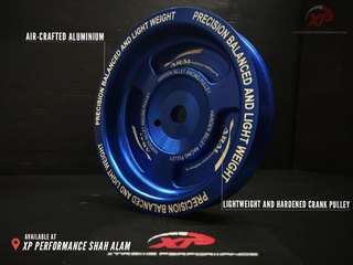 Crank pulley ARAI for Proton Campro CPSCFE 1.3 T7 aluminium blue color