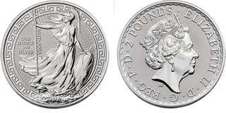 Britannia oriental silver coin