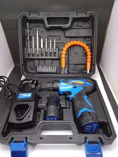 SEMPROX SCD1203 12V Cordless Drill with 16pcs drill set & Soft Shat