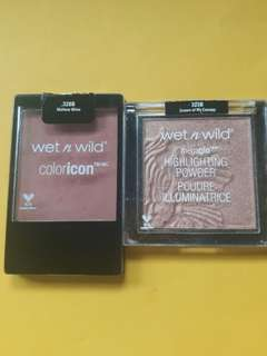Wet and Wild Blush and Highlighter