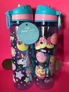 Smiggles Unicorn and Cat 660ml Water Bottle