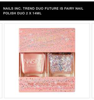 Nailsinc fairy nail polish duo
