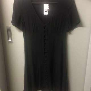 Sportsgirl Black Tea Dress