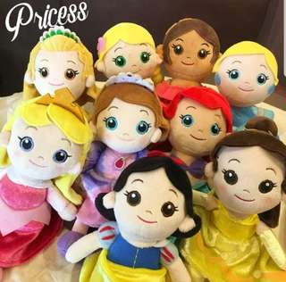 Fairy Tale Soft Toy : Princess / Mermaid / Bella / Snow White / Sofia / Sleeping Beauty / Mermaids