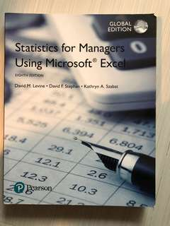Pearson, Statistics for Managers Using Microsoft Excel