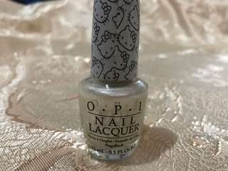 O.P.I Hello Kitty Nail Lacquer (kitty white) 15ml