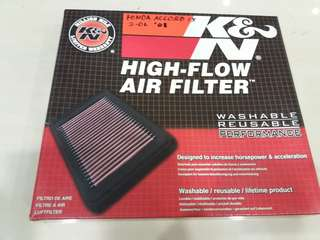 K&N filter Honda Accord 2.0